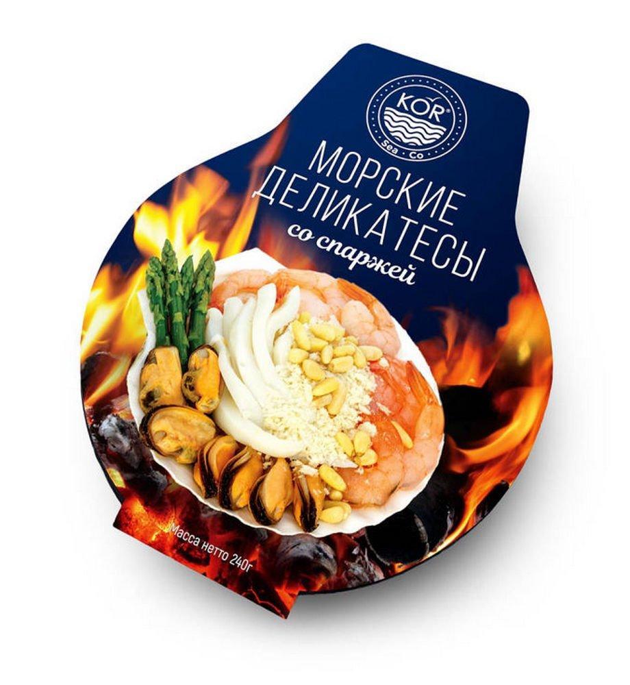 Морские деликатесы Kor Sea Co, со спаржей (235 гр/шт)