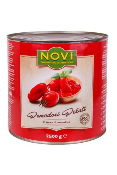 Томаты целые очищ. в собств соку 2,5 кг. Novi (6 шт/кор)