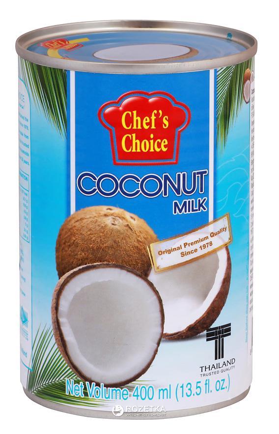 "Кокосовое молоко ""Chefs Choice"" 0,4 л (24 шт/кор)"