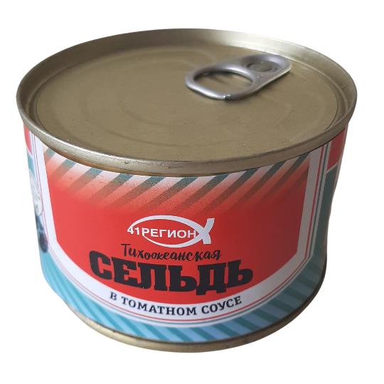 Сельдь т/о  в томатном соусе ж/б /240 гр. (48 шт / кор)